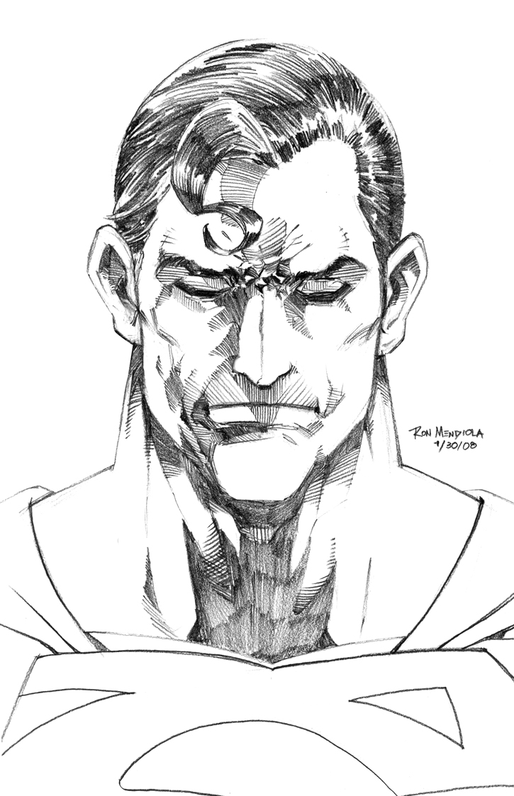 Superman Face Drawing Superman Pencil Drawings