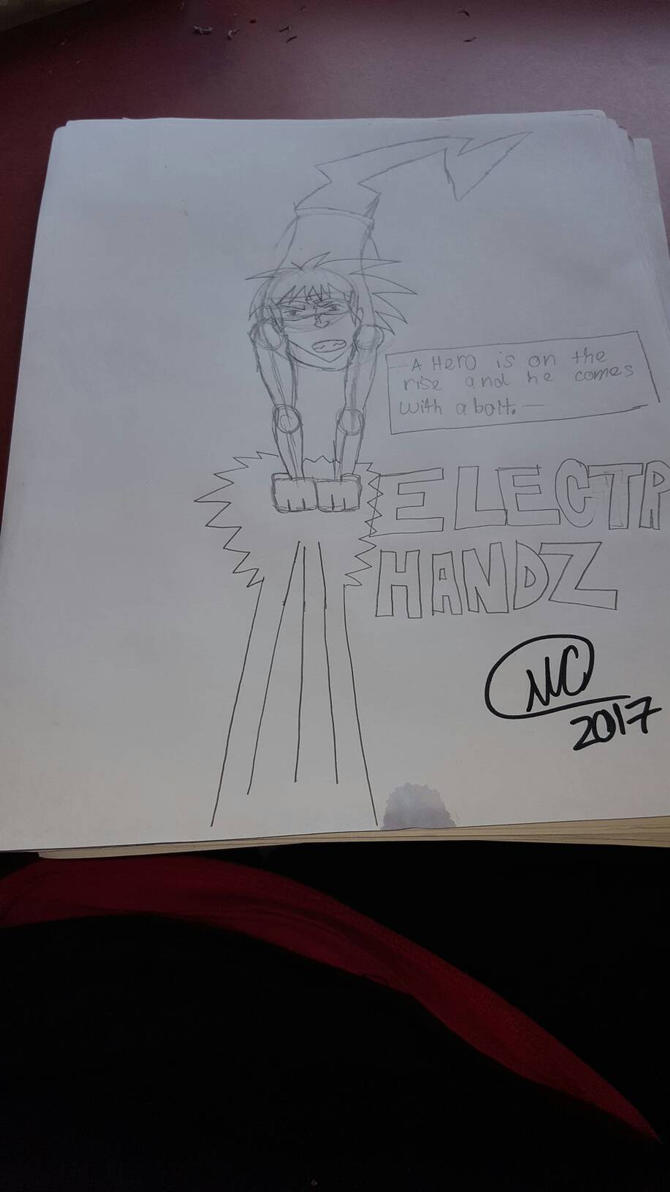 W.I.P. of the Electric Handz Comic book by rodsmith23