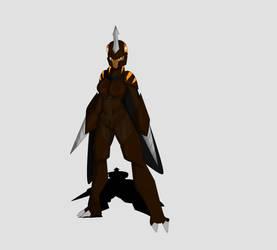 Megalon Kaiju Girl Full Body Design by TSURUGIKNIGHT