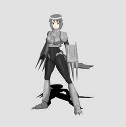 Showa Mechagodzilla Kaiju Girl Full Body Design by TSURUGIKNIGHT