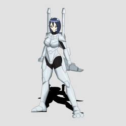 Heisei Mechagodzilla Kaiju Girl Full Body Design by TSURUGIKNIGHT