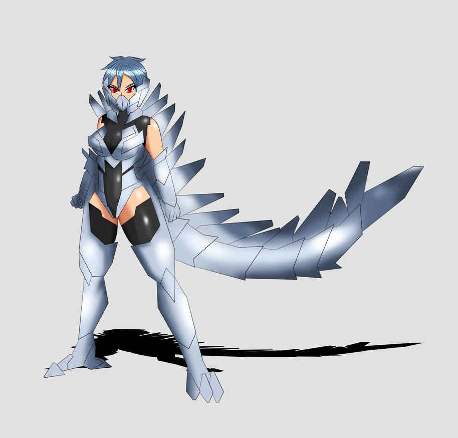 Mechagodzilla Anime Kaiju Girl Full Body Design By