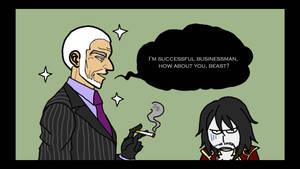 Zobek and Dracula by sanaez