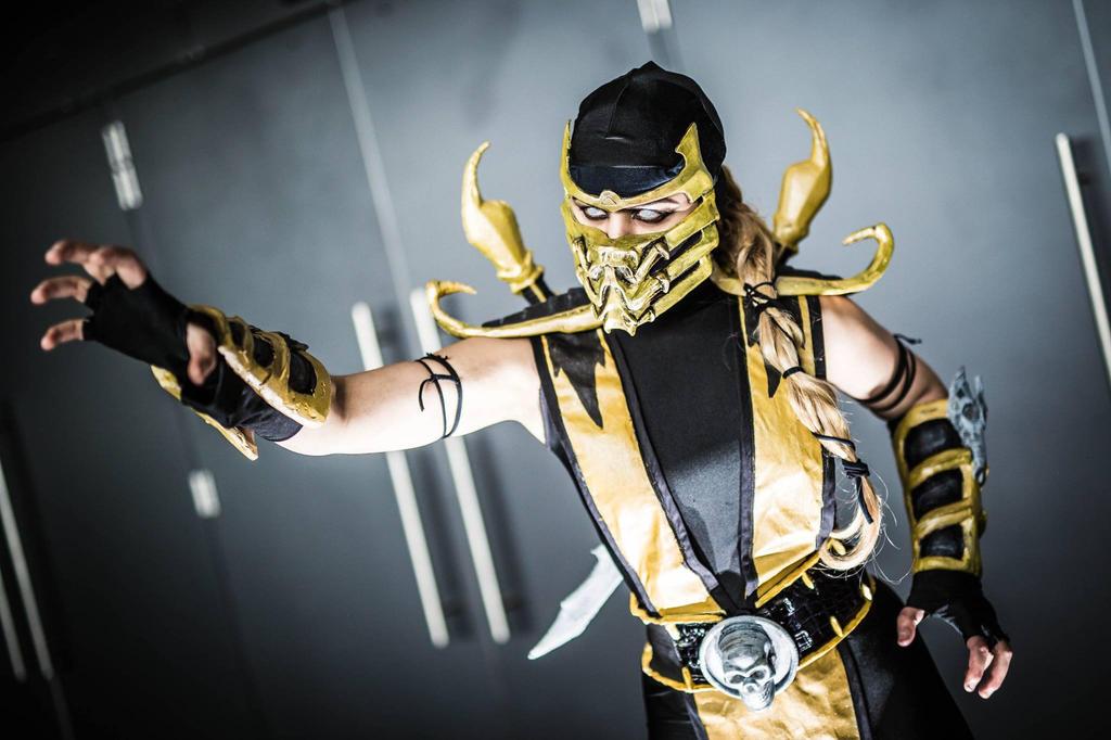 Scorpion Cosplay Mortal Kombat 9 by YelizCosplay
