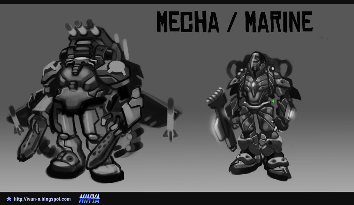 Concepts Mooncraft 2 Mecha Marine 1 by sakya