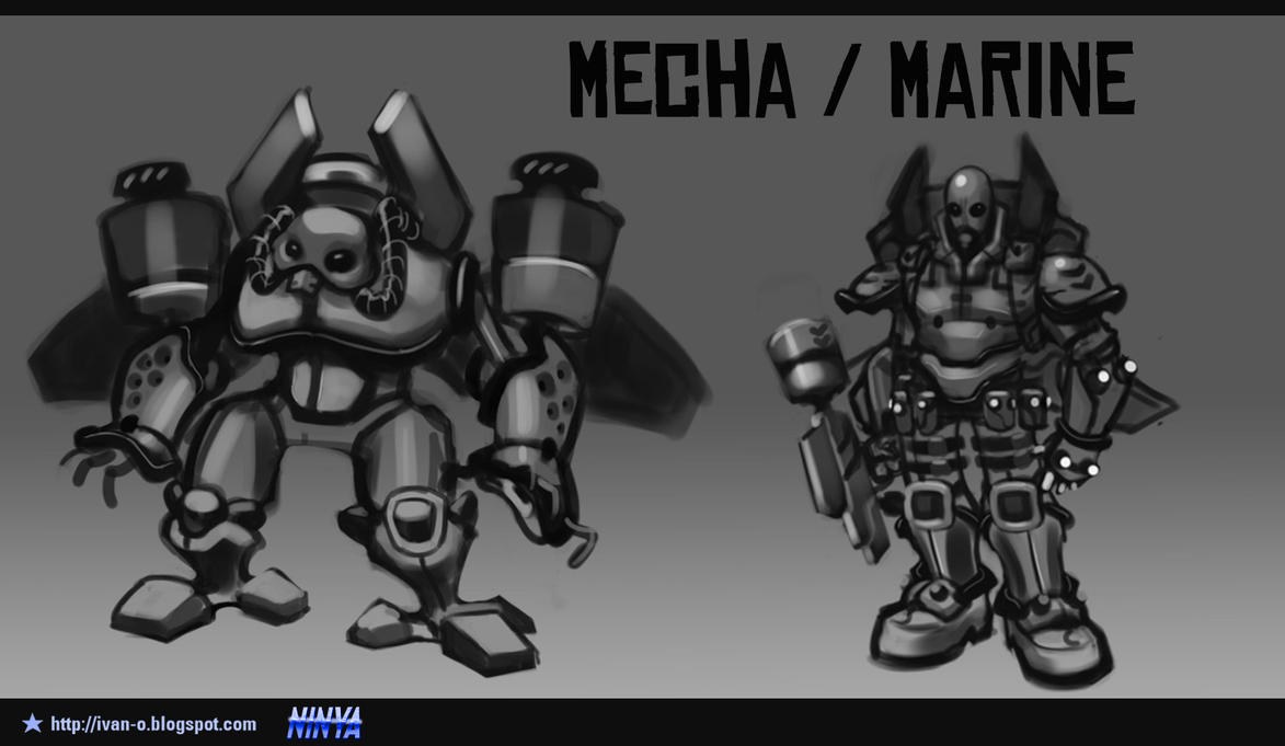 Concepts Mooncraft 2 Mecha Marine 2 by sakya