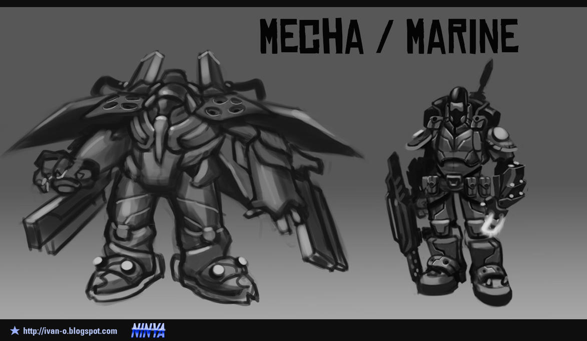 Concepts Mooncraft 2 Mecha Marine 3 by sakya