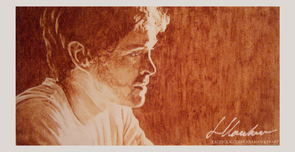 Chocolate portrait - Will Graham by larahawker