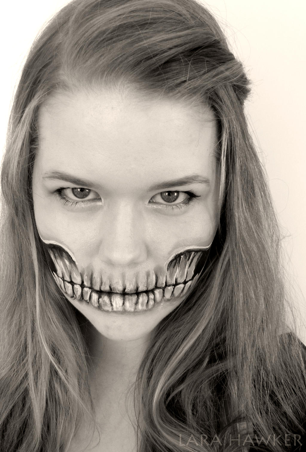 Face Painting - Skeleton by Half Skeleton Face Painting