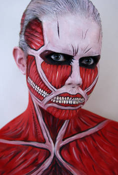 Face painting - Colossal Titan + Tutorial
