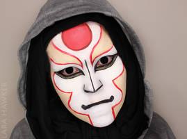 Legend of Korra - Amon - face paint by larahawker