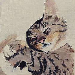 WIP Acrylic Kitty