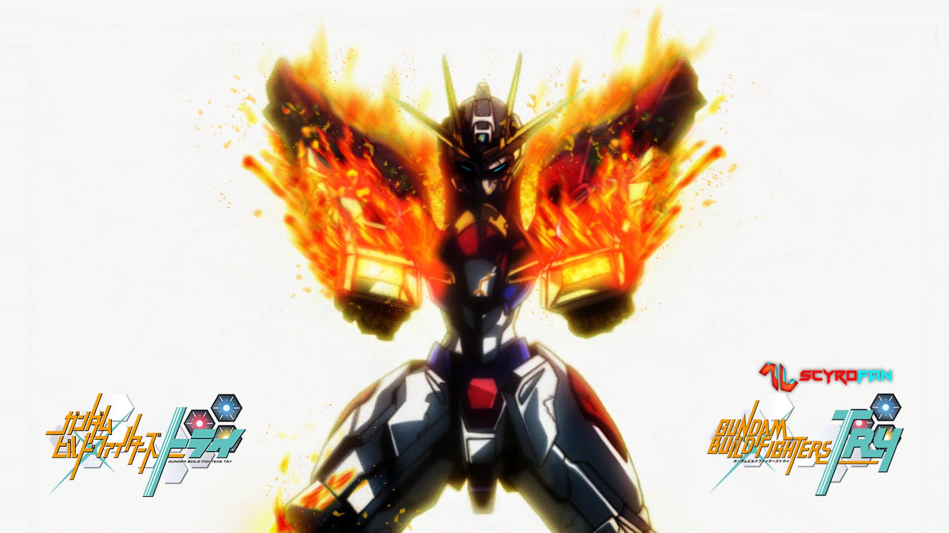 Gundam build burning wallpaper by scyrofan on deviantart for Domon gundam build fighters try