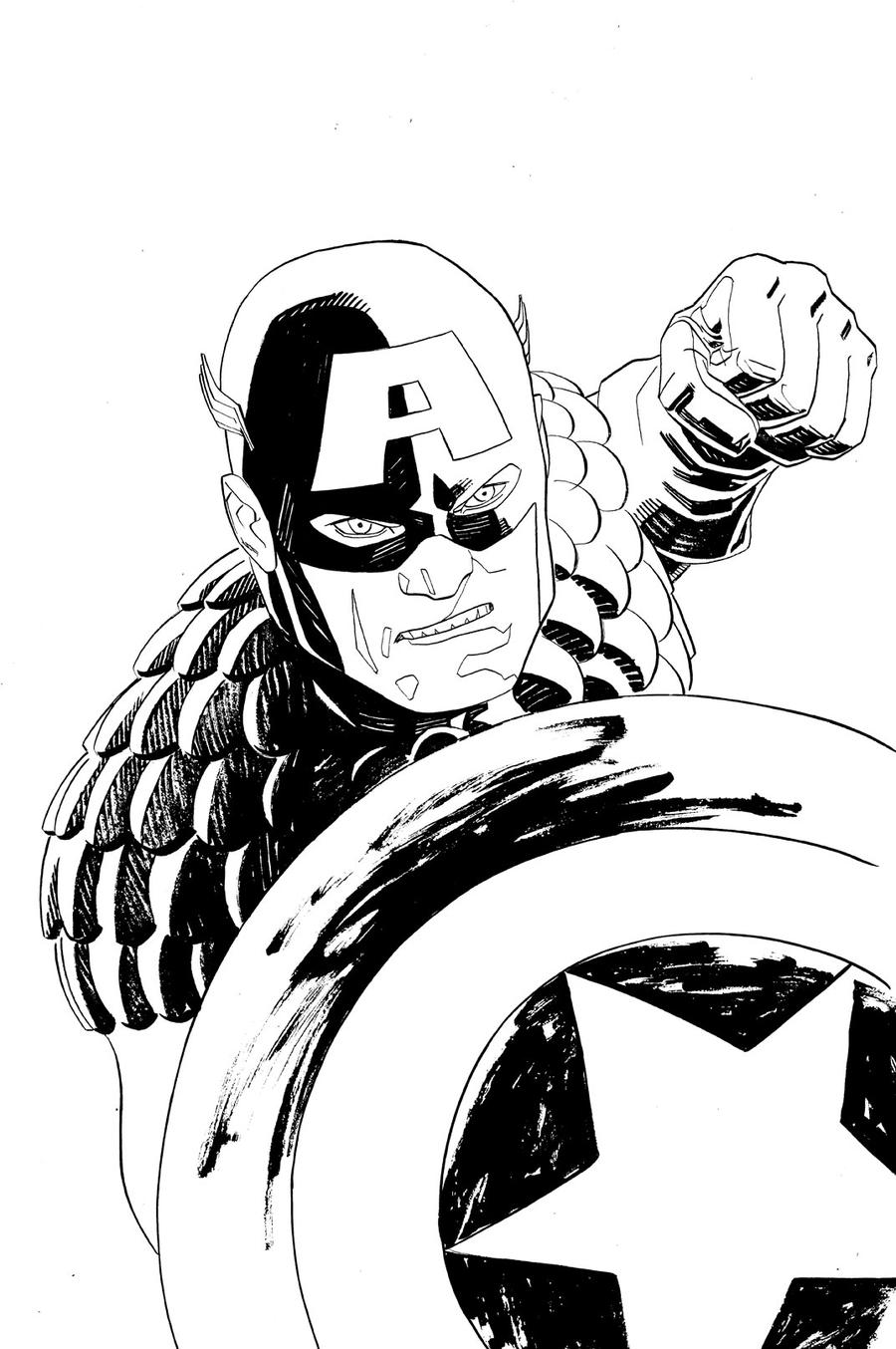 Line Art Usa : Captain america lineart by misterhardtimes on deviantart