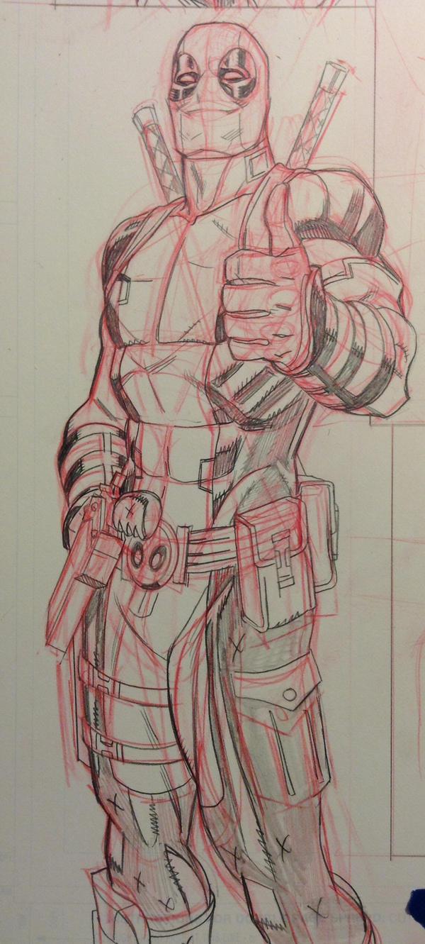 Deadpool thumbs up! by MisterHardtimes