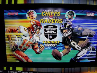 ESPN for the Chiefs VS Ravens