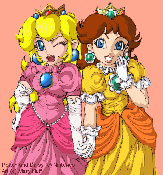 princess peach and daisy wallpaper. Princess Peach and Daisy by