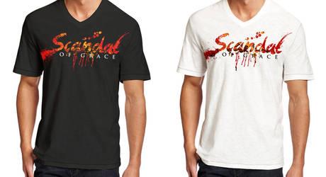 Scandal of Grace - T shirt design