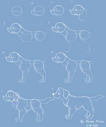 How I Draw A Cartoon Dog
