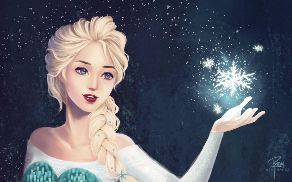 Elsa Wallpaper by Beya-art
