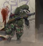 Tiwaz, Mercenary Point-Man