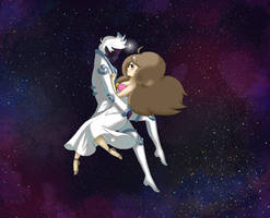 Bee and PuppyCat (space outlaw) by MauricesMoon