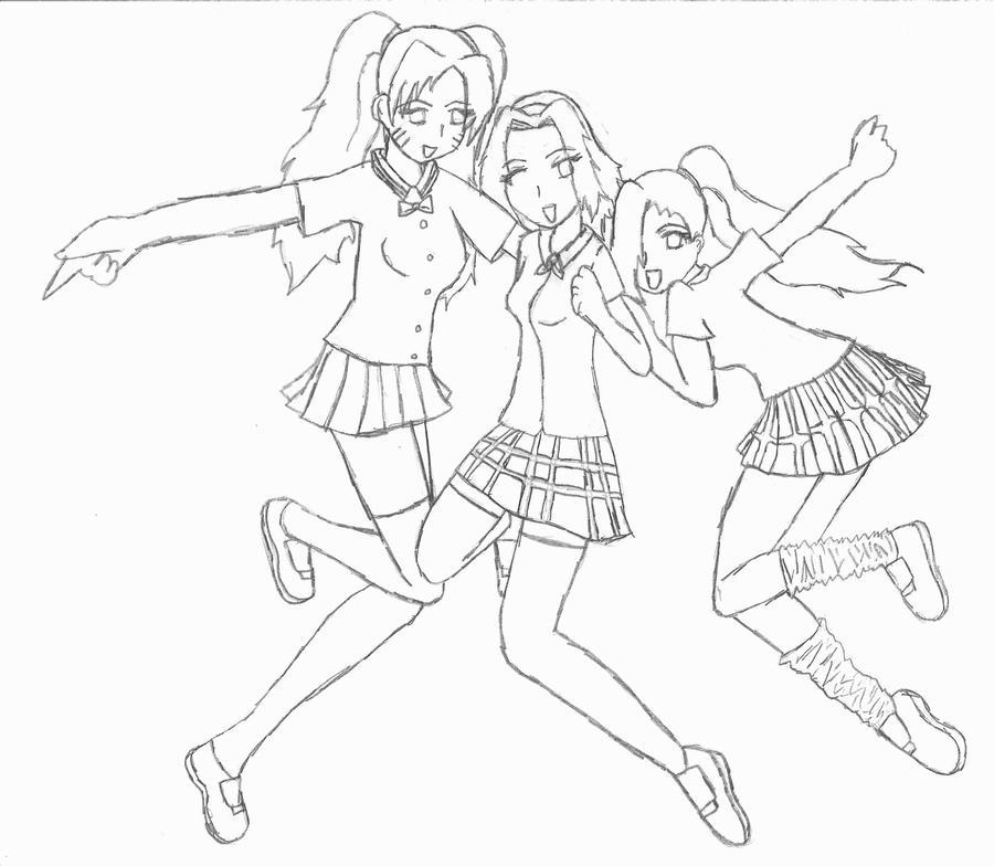Sakura Naruko and Ino by coolcat217