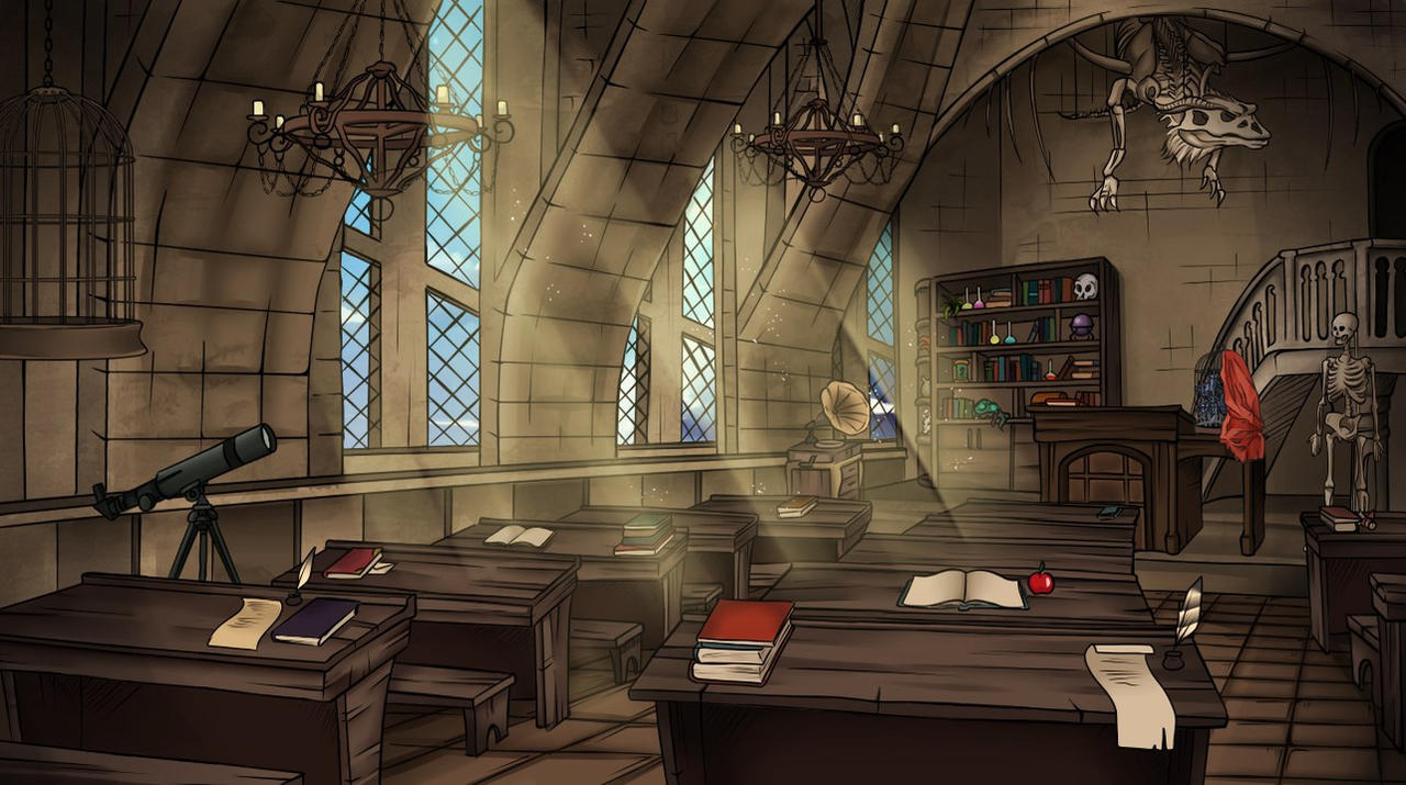Defence Against The Dark Arts Classroom By Bluefoxstudio On Deviantart