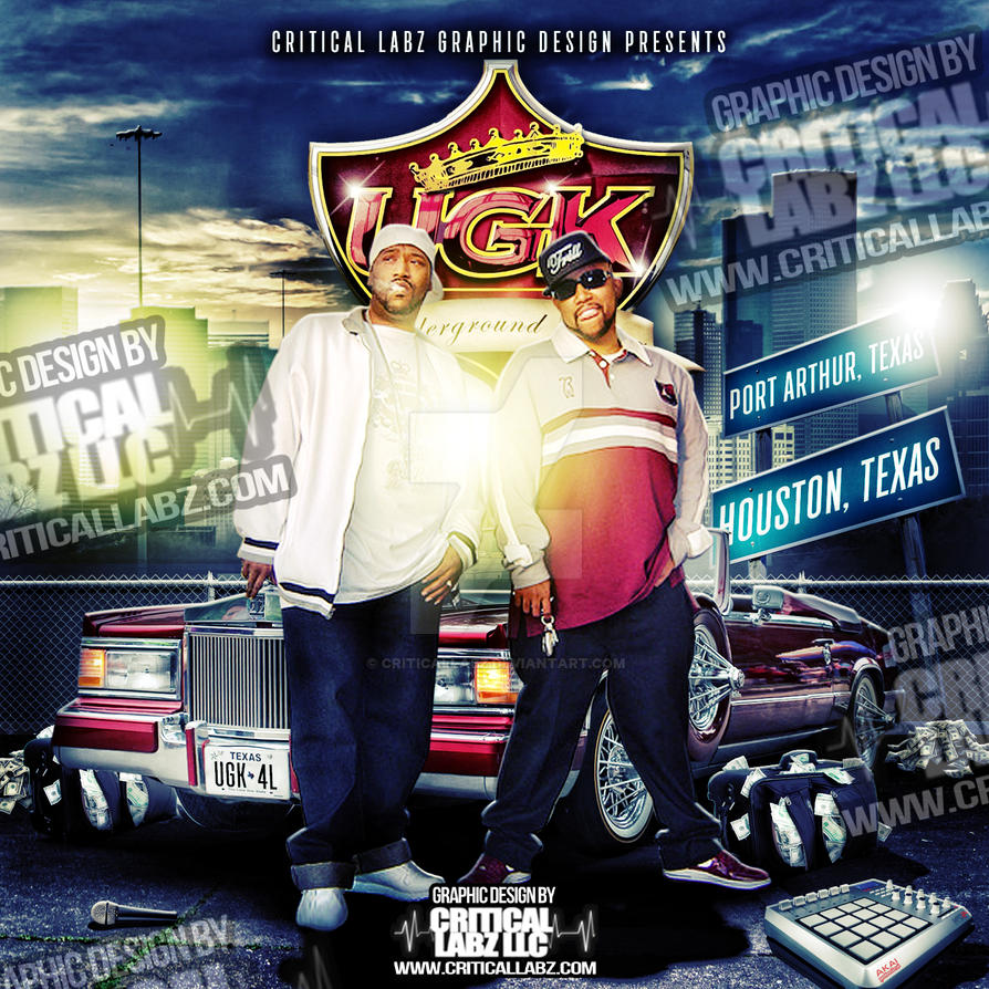 UGK Underground Kings Fan Art Mixtape Cover by CriticalLabz