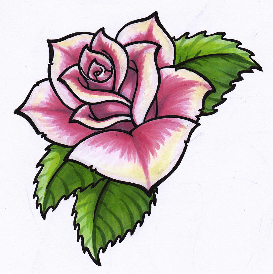 hoontoidly: Simple Pink Rose Drawing Images