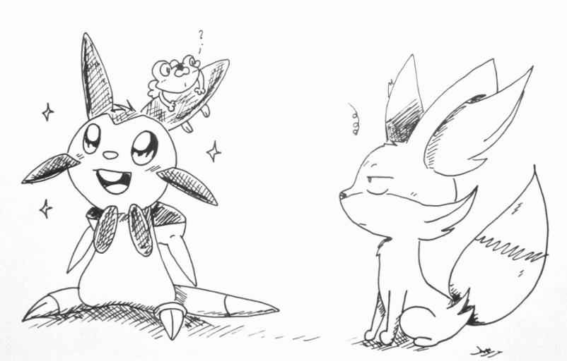 Chespin without hood by Nid15