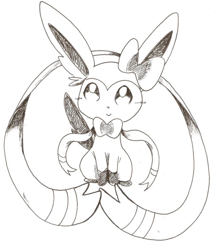 pokemon coloring pages eevee evolutions sylveon 8724170 girlietalkinfo