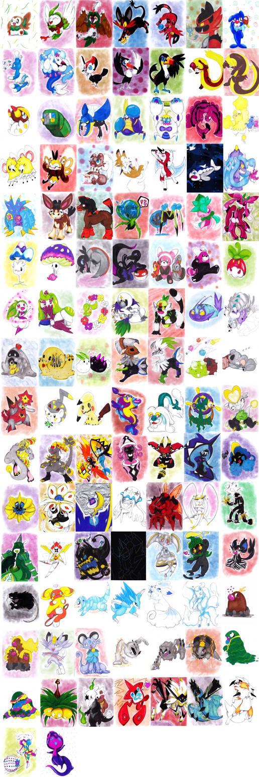 7 th generation all pokemon