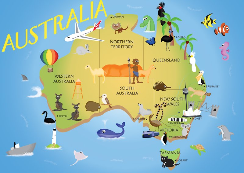 Kids Australia Map by pippy92