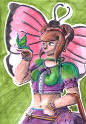 Butterfly Lady by Herainia