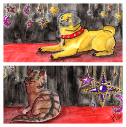 Kitty and Puppy - Bookmark