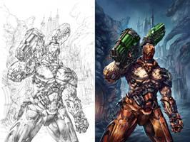 Quake Cover 02 AQ COL by colorismstudio