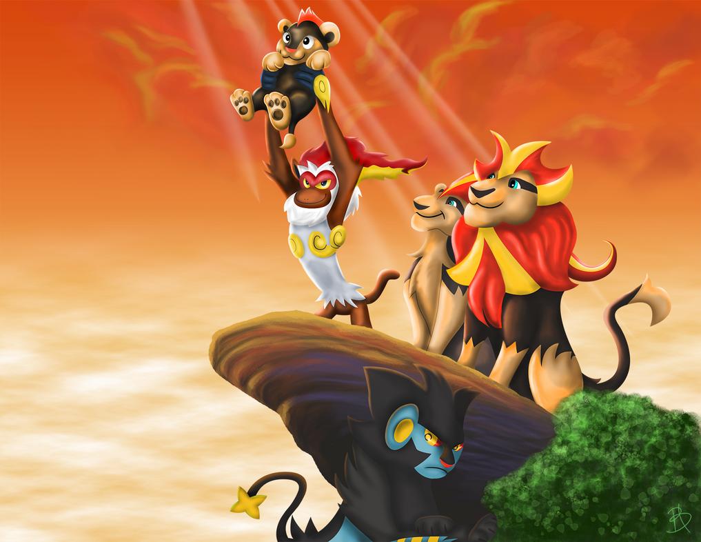 La influencia del rey león en el mundo pokemón The_pyroar_king_by_wolfeiz-d7cxutm