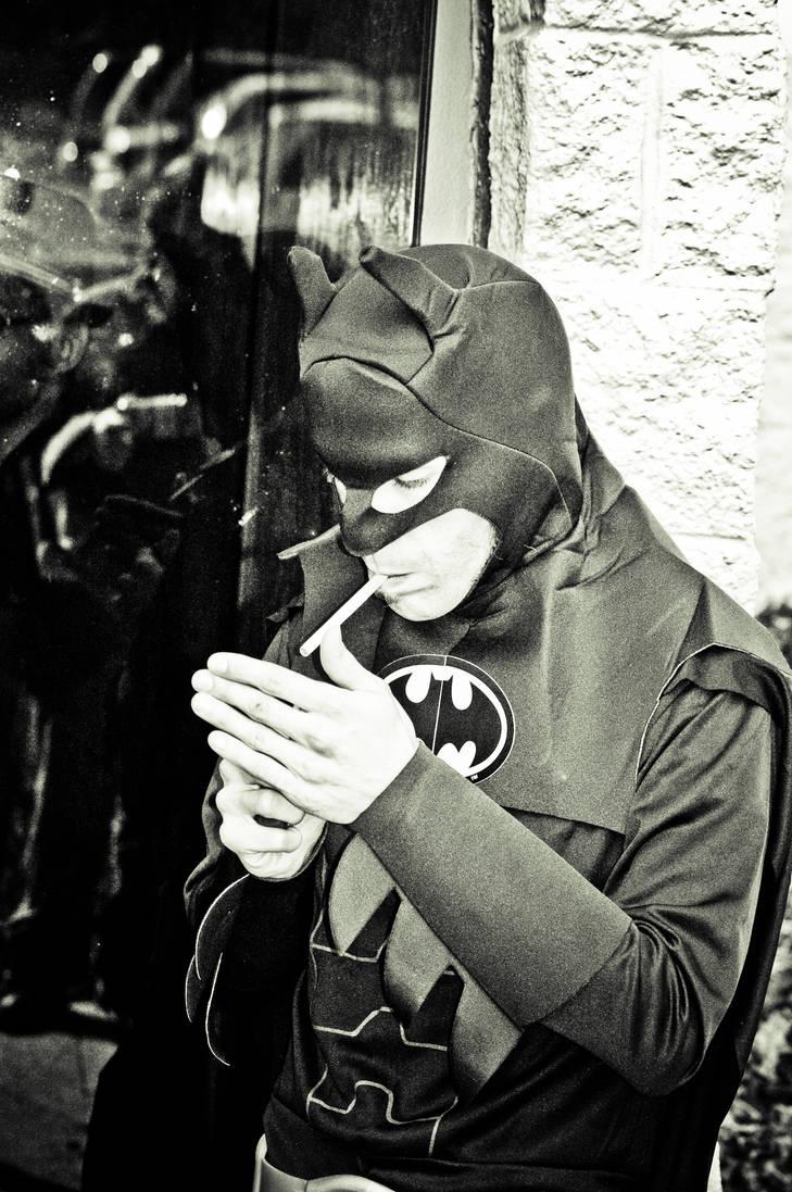Batman Smoking by The-Prez