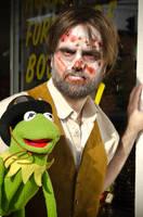 Zombie Steampunk Jim Henson with Kermit by The-Prez