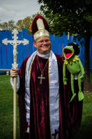 Kermit and a Catholic Bishop by The-Prez