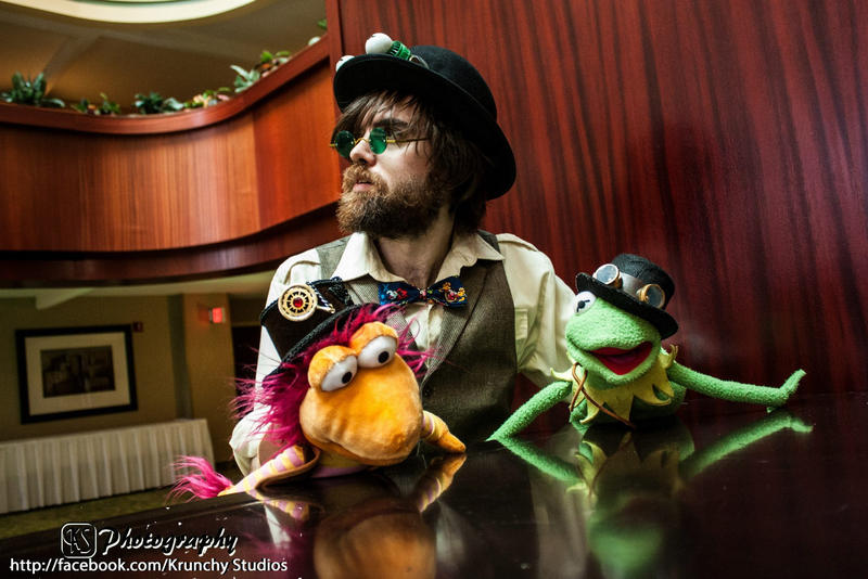 Steampunk Jim Henson with Muppets by The-Prez