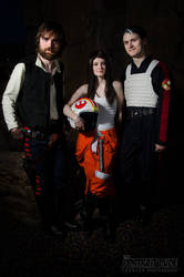 Han Solo with Jaina Solo and Jagged Fel by The-Prez