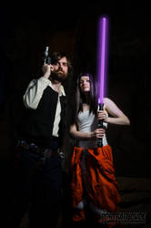Han Solo with Jaina Solo by The-Prez
