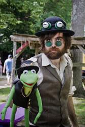 Steampunk Jim Henson with Steampunk Kermit by The-Prez