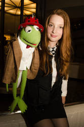 Kermit as the 11th Doctor with Amy Pond by The-Prez