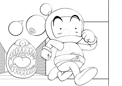 Bomberman Lineart