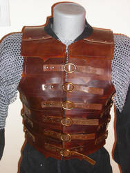 roman leather chest armor by orionmtp
