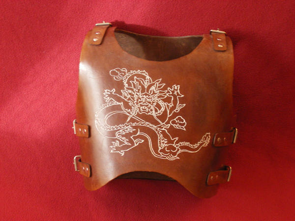 embossed leather chest armor by orionmtp