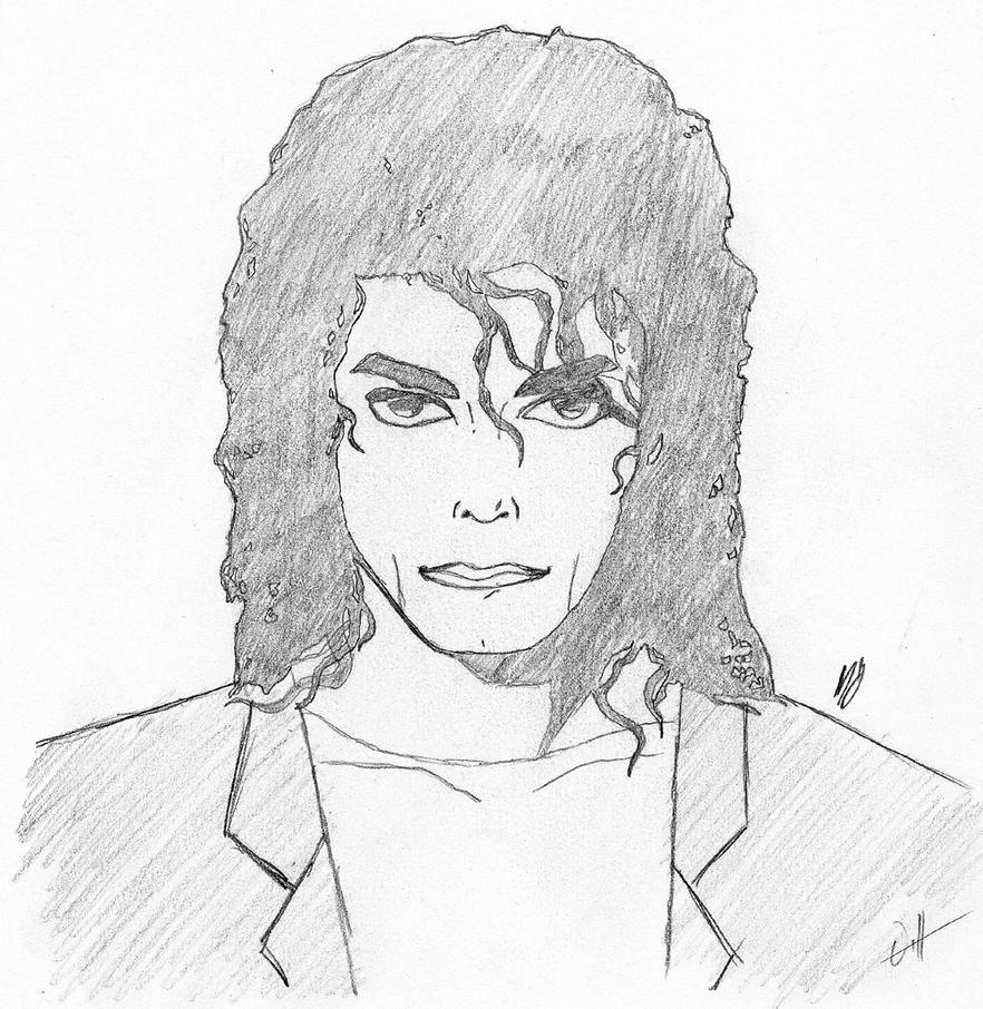 M J Sketch Images MJ Sketch by Roadhouse-Hunter